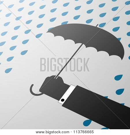 Umbrella. Stock Illustration.