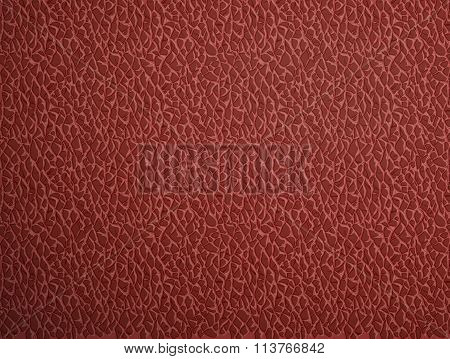 Red Leather. Stock Illustration.