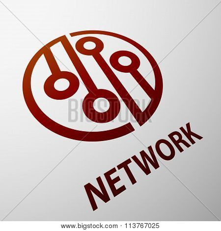 Network. Stock Illustration.
