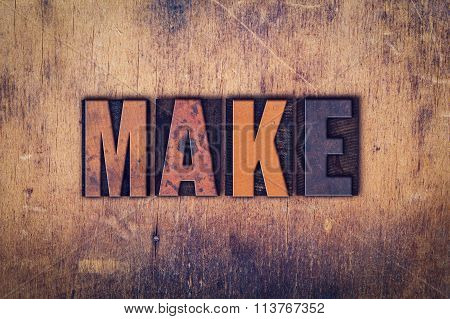 Make Concept Wooden Letterpress Type
