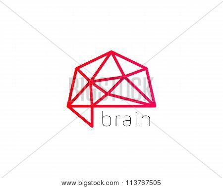 Abstract brain logo generate idea design template. Color trend medicine sign. Universal smart mind m