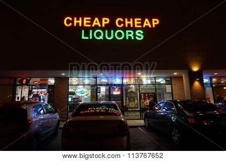 Cheap Cheap Liquors During the Night