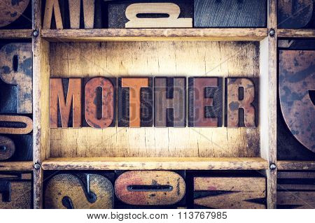 Mother Concept Letterpress Type