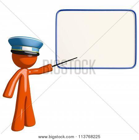 Orange Man Postal Mail Worker Seminar