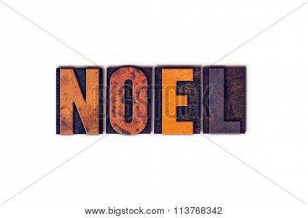 Noel Concept Isolated Letterpress Type