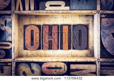 Ohio Concept Letterpress Type