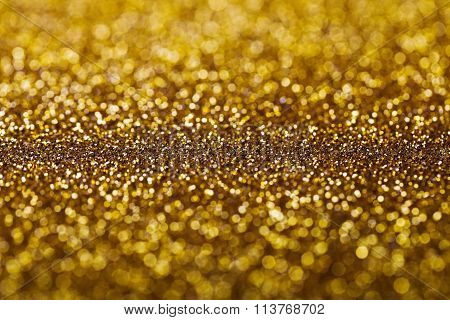 Abstract Golden Twinkled Background