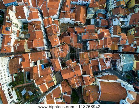 Top View of Rooftops, Lisbon, Portugal
