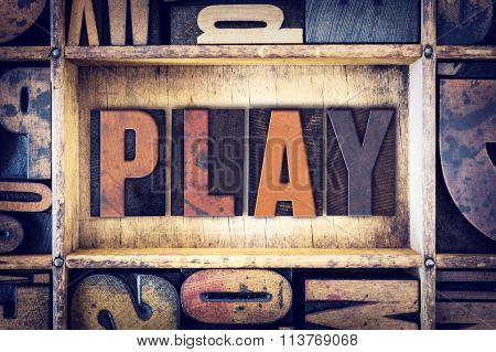 Play Concept Letterpress Type