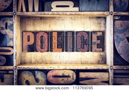 Police Concept Letterpress Type