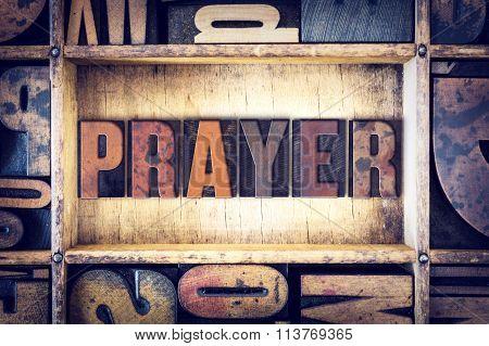 Prayer Concept Letterpress Type