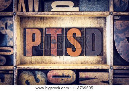 Ptsd Concept Letterpress Type