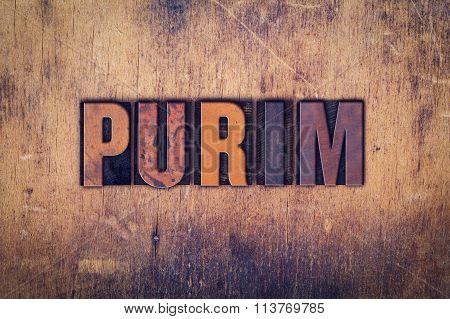 Purim Concept Wooden Letterpress Type