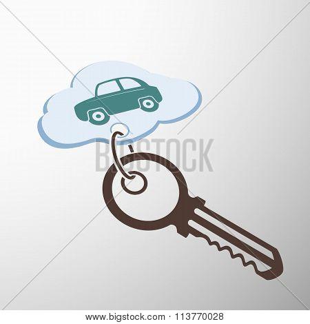 Key With Keychain.