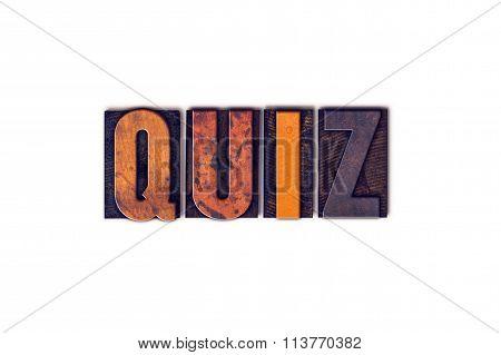 Quiz Concept Isolated Letterpress Type