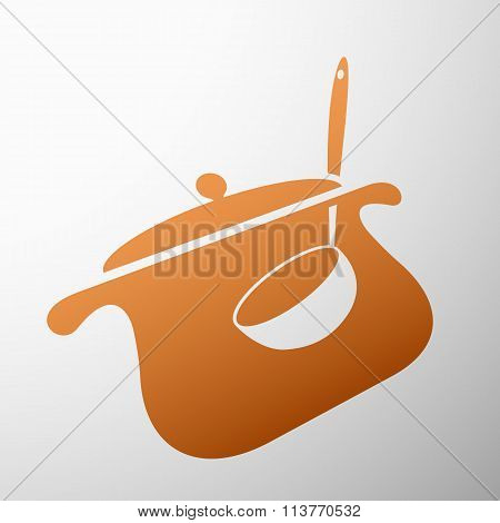 Pan With A Ladle