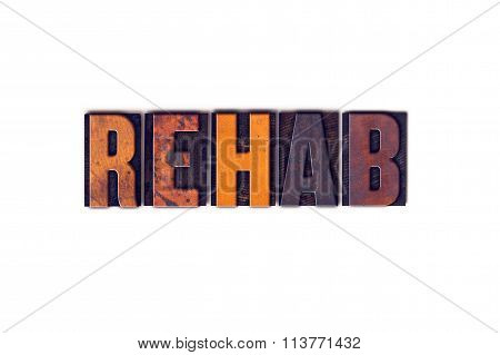 Rehab Concept Isolated Letterpress Type