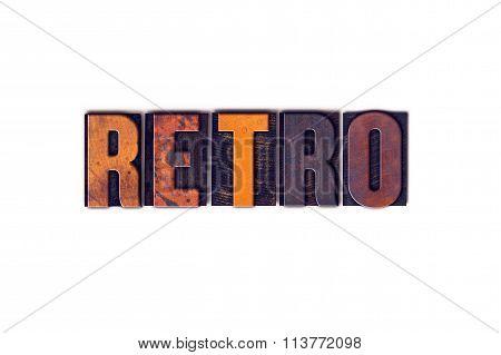 Retro Concept Isolated Letterpress Type