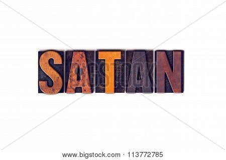 Satan Concept Isolated Letterpress Type