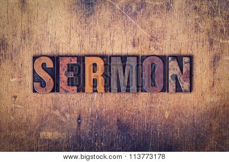 Sermon Concept Wooden Letterpress Type