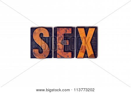 Sex Concept Isolated Letterpress Type