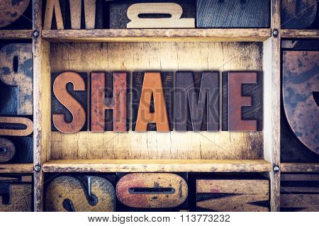 Shame Concept Letterpress Type
