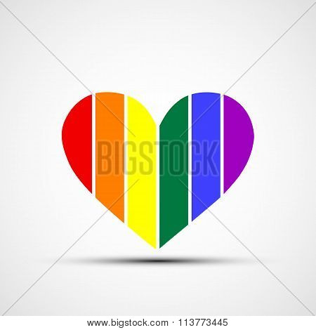 Rainbow. Stock Illustration.