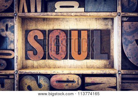 Soul Concept Letterpress Type