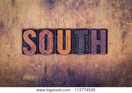 South Concept Wooden Letterpress Type
