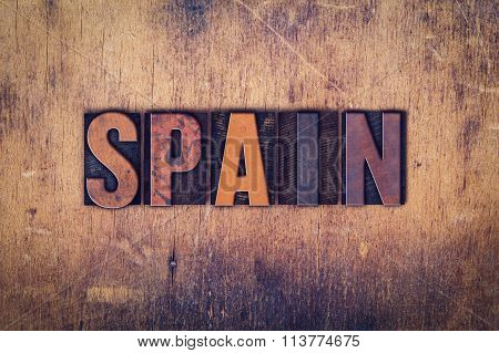 Spain Concept Wooden Letterpress Type