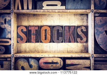 Stocks Concept Letterpress Type