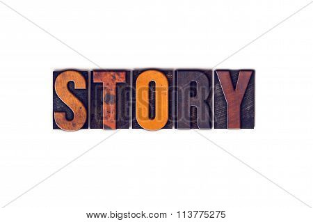 Story Concept Isolated Letterpress Type