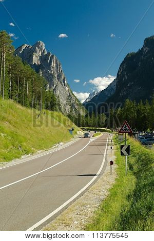 Road in a mountain landscape