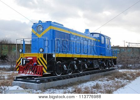 Ulaanbaatar, Mongolia-dec,02 2015: Shunting Diesel Locomotive, Tem-1. Museum Of Railway Equipment In