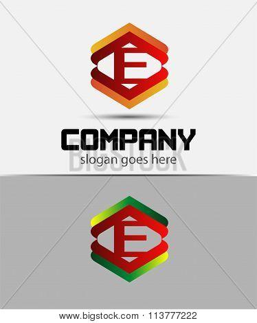 Alphabet symbol with Letter E