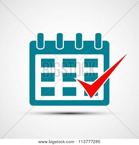Logo Calendar. Stock Illustration.