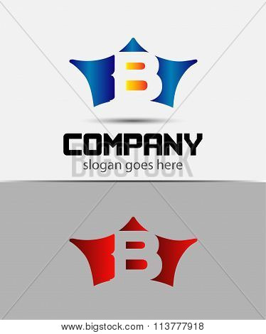 Sign the letter B Branding Identity crown logo design template