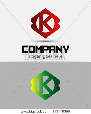 Letter K Logo Design.Creative Symbol of letter K