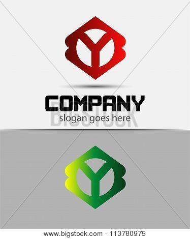 Letter Y Logo Design.Creative Symbol of letter Y