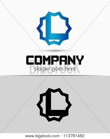 Letter L Alphabetical Logo Design Concepts