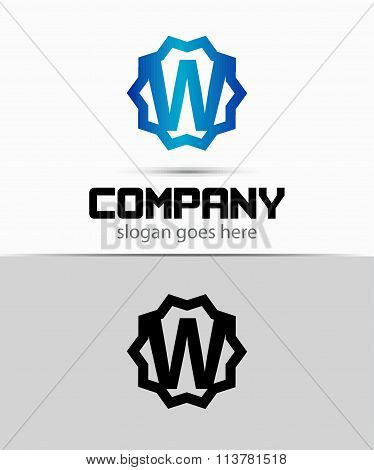 Letter w Alphabetical Logo Design Concepts