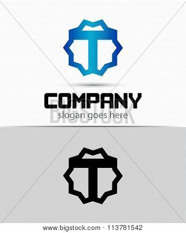 Letter t Alphabetical Logo Design Concepts