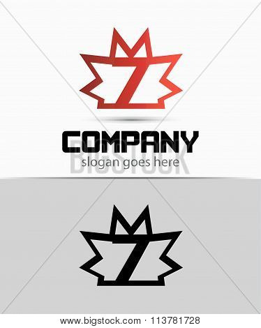 Number seven 7 logo icon template
