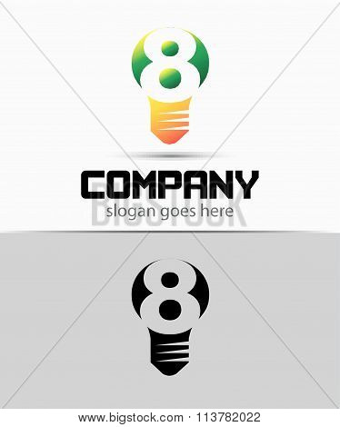 Number 8 logo. Vector logotype design