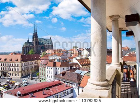 Cathedral Of Saints Peter And Paul, Petrov, Town Brno, Moravia, Czech Republic, Europe