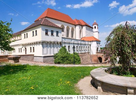 Medieval Spilberk Fort And Prison, Town Brno, Moravia, Czech Republic, Europe