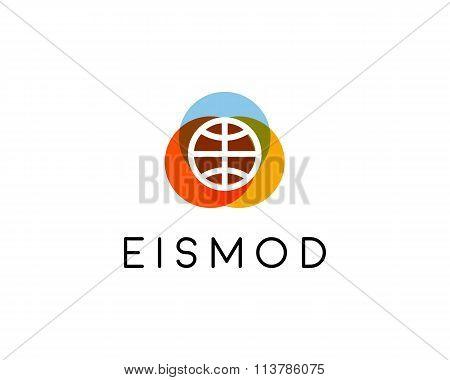 Abstract basketball logo design. Game team creative symbol. Universal sport vector icon. Play ball s