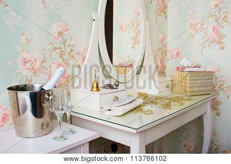 Vintage white boudoir