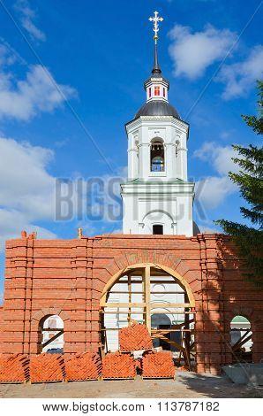 Restoration Of Archangel Michael Temple In Lazarevo Near Murom, Russia