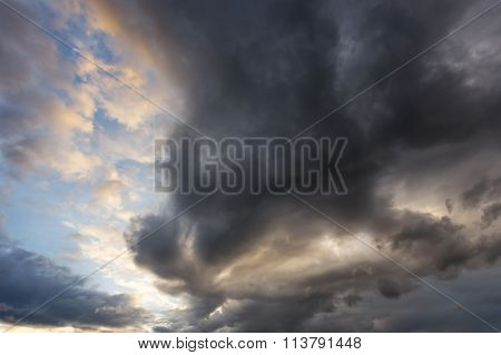 Rain Cloud Thunderstorm Background
